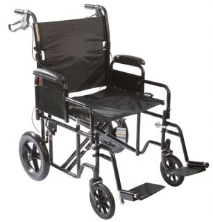Roscoe Bariatric Transport Chair Heavy Duty Wheelchair