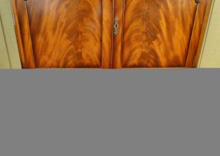 Antique English Victorian Mahogany Wardrobe Armoire Closet Mirror Drawers 1890'S