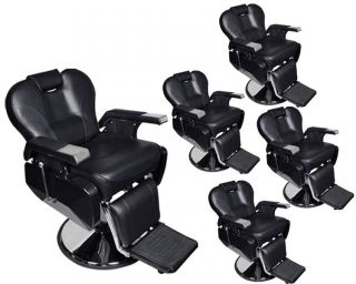 5 All Purpose Hydraulic Recline Barber Chairs Salon Beauty Spa Shampoo Equipment