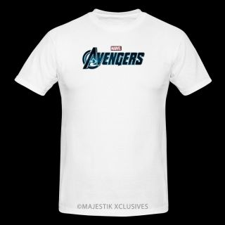 The Avengers Logo Movie T Shirt s XL White Marvel Iron Man Hulk Captain America