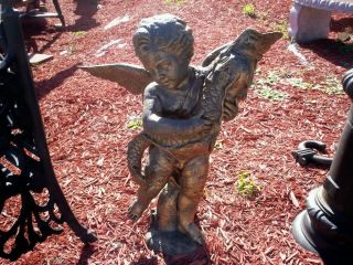 Cast Iron Angel Garden Statue