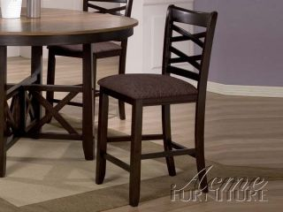 5 Pieces Rustic Olivia Counter Height Table Leaf Dining Room Set