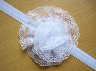 7pcs Kid Newborn Baby Girl Toddler Lace Flower Headband Hairband Bow Accessories