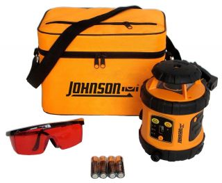 Johnson Acculine Pro 40 6515 Self Leveling Rotary Laser Level Used 3 Times