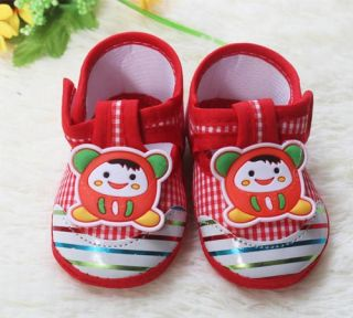 Infant Princess Prince Baby Shoe Little Cartoon Watermelon Red Soft Bottom Shoes
