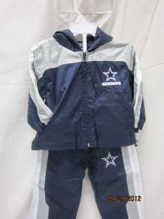 Dallas Cowboys NFL Authentic Apparel Infant Two Piece Suit 12 Months