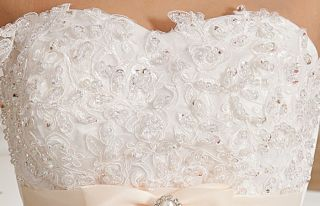 Luxury Heart Shaped Bra Bandage Princess Women Formal Wedding Dress Bride Dress