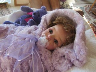 Valentine's Day Special Reborn Lifelike Baby Doll Girl Lola 20'' by Adrie Stoete