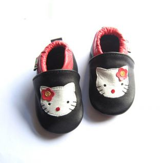 Luxury Soft soled Baby Toddler Shoes Girls Pram Shoes Hello Kitty 4 Sizes New