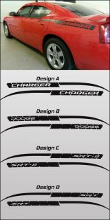Quarter Door Stripe Kits Vinyl Decal Sticker Fits 2006 2010 Charger