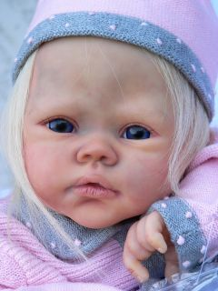 Beautiful Reborn Baby Doll Bonnie Le 228 650 Large Layette Glass Eyes