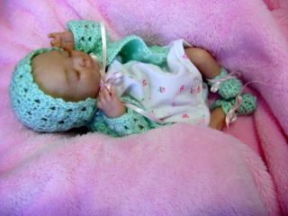 So Adorable Micro Preemie Reborn Baby Doll Girl Bryon Sculpt by Denise Pratt