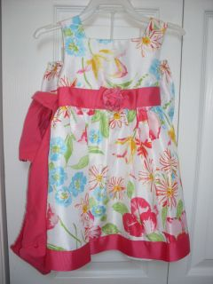 Baby Pink Floral Summer Dress with Shrug 18 24 Good for Easter
