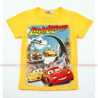 New 2 3 4 5 6 7 U Pick Toddler Kids Boys McQueen Short Sleeve Tee Shirt 564