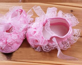 New Princess Style Non Slip Newborn Baby Toddler Shoes Beautiful Lace Flower Hot