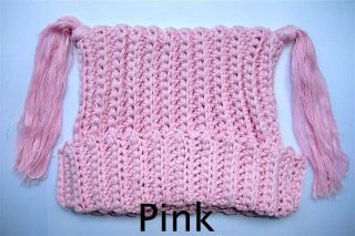 Lovely Cute Gorgeous Newborn Baby Child Knit Hat Beanie Cap New Pink 0 6 Month