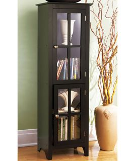 New Contemporary Modern Black Wood End Table Shelf Storage Art Magazine Display