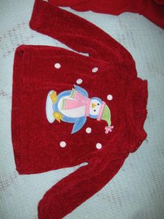 6 Baby Girl Clothes 6 9 Months Fleece Foodie PJ Holiday Dress Christmas G17