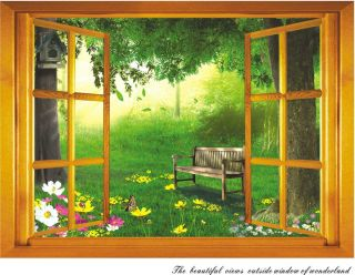 Removable 3D The Beautiful Views Outside Window Wall Decal Art Vinyl Sticker
