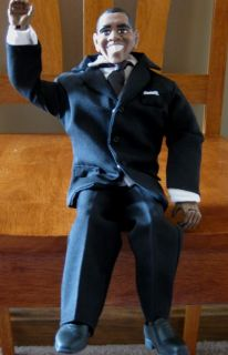 Custom Made Collectible Barack Obama Action Figure Figurine Doll w Speech