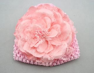 1pc Baby Girls Toddlers Infant Flower Hat Cap Bonnet Hair Accessories Beanie
