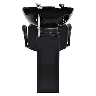 New Sturdy Black Salon Shampoo Chair Bowl Unit Su 20