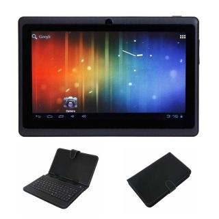 "7"" Capacitive A13 Android 4 0 Tablet 4GB Black Micro USB Keyboard Case Bundle"