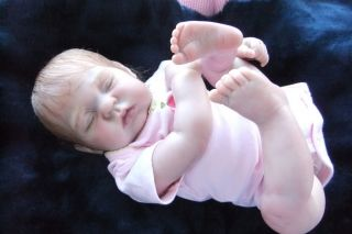 Adorable Reborn Baby Girl Full Limbs Soft Huggable Body Beautiful M R Hair C