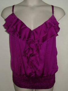 Baby Phat Plus Womens Purple Ruffle Spaghetti Strap Top Shirt 3X