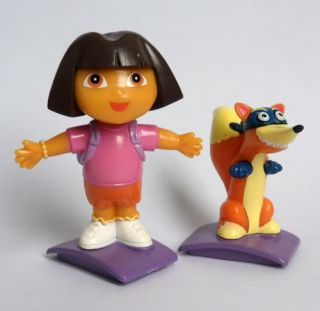 2 Pcs Dora The Explorer Swiper Fox Figures New