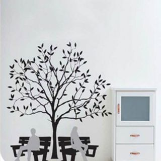 Tree and Benches Wall Sticker Decal
