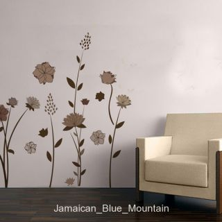 Stylish Long Stalk Flower Garden Removable Wall Sticker Decal
