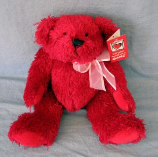 Red Valentine Teddy Bear Ganz Murdoch Stuffed Plush Animal