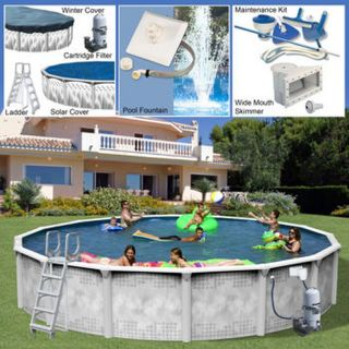 Century Pools Majestic Above Ground Resin Pool Packages 24Ï¿½ x 52Ï¿½ Round Pool