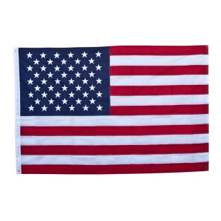 4 Lot 3'x5' ft Embroidered USA American Flag Stripes Star Spangled Sewn Banner