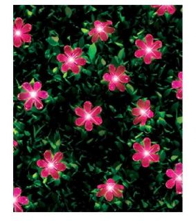 20 Pink LED Solar Powered Rechargeable Garden Party Flower String Fairy Lights