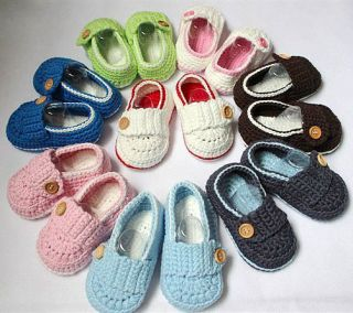 Lovely Cute Handmade Crochet Shoes Newborn Baby Girl Boy Photograph New 8 Color