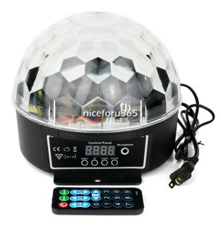 3W DJ Club Pub Disco Party Hot Crystal Magic Ball RGB LED Stage Effect Light