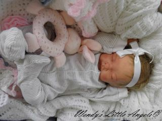 Gorgeous Lifelike Reborn Baby Girl Doll Lovingly Created by Wendys Little Angels