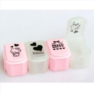 Hello Kitty Inter Lock Pill Box Pill Storage Case Sanrio