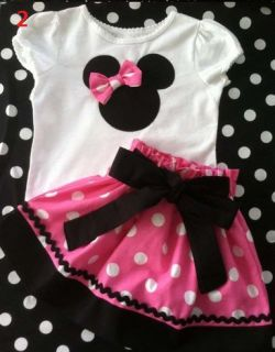 Minnie Mouse Baby Clothing Sets Dots Skirt Dots Pants Girls Clothes