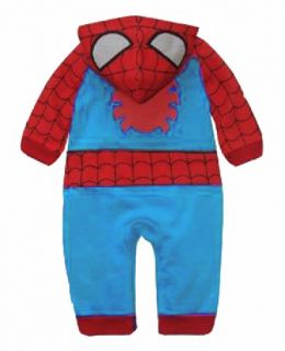 Baby Boys Romper Toddler Infant Spiderman One Piece Pajamas Coat Size 0 24M 2T
