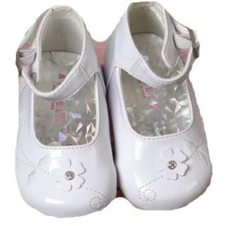 Unique Angels Fancy White Patent Baby Girl Dress Christening Wedding Shoes
