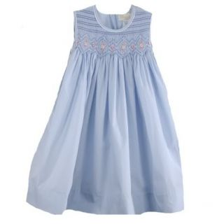 Precious Smocked Sleeveless Petit Ami Boutique Baby Girl Dress Blue Lilac