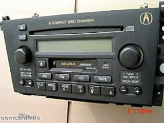 01 02 03 Repair Acura TL CL Radio Tape Player 6 CD Changer Bose 2001 2002 2003