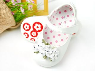 New Toddler Girl White Mary Jane Shoes Size 5 6 7 8