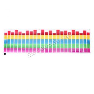 90 x 25cm Car Sticker Music Rhythm LED Flash Lamp Sound Activated Equalizer New