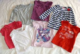54 PC Baby Toddler Girls Clothes Lot Size 2T 3T Gymboree Guess Disney More