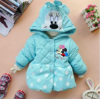 Girls Baby Coat Minnie Mouse Winter Warm Fleece Outwear Sz 1 5Y Jacket Snowsuit