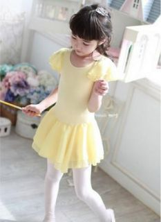Girls Kids Ballet Dance Costume Tutu Skate Gymnastics Dress Skirt S3 8Y Lovely